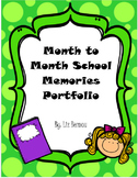 Month to Month School Memorybook Portfolio yearbook