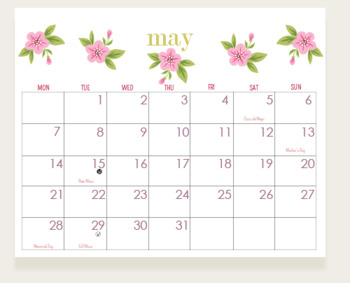 Month-to-Month Theme Wall Calendar