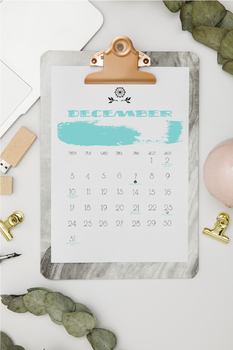 Month to Month Wall Calendar - Ink Blots