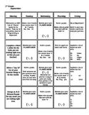 Monthly 1st Grade Common Core Homework