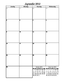 Monthly 2-page Calendar -Editable for Life-Never purchase another calendar!