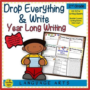 Second Grade Year Long D.E.W. (Drop Everything & Write), Rubrics & Data Charts
