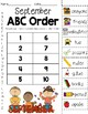 Monthly ABC Order Pages & Cards