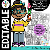 Themed ABC Order for ANY spelling list