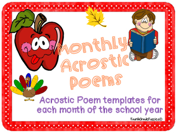 Monthly Acrostic Poems