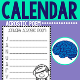Monthly Acrostic Poems for the Calendar Year (Grades K-2)