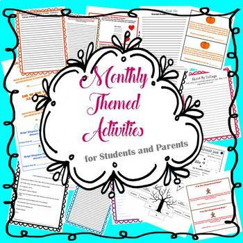 Monthly Themed Activities for Students/Family