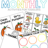 Monthly Activities for Toddlers Growing Bundle