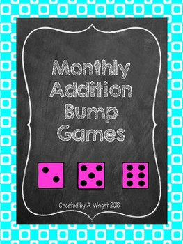 Monthly Addition Bump Games Set 2