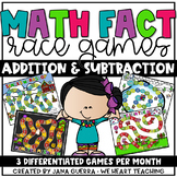 Addition and Subtraction Race Games (Monthly Bundle)