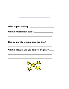 Monthly All-Star Survey (Classroom Management)
