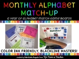 Monthly Alphabet Match Boards