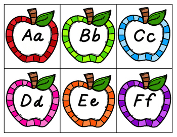 Monthly Word Wall Alphabet Tags
