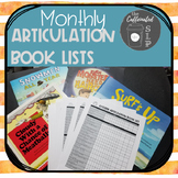 Monthly Articulation Book Lists