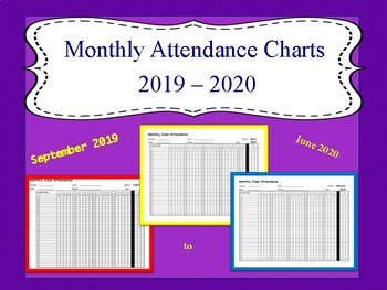 Monthly Attendance Chart