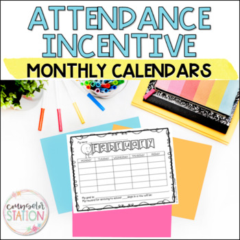 Monthly Attendance Incentive Charts for School Counselors