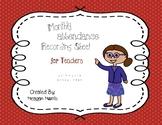 Monthly Attendance Recording Sheet for Teachers