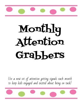 Monthly Attention Getters Cards