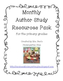 Monthly Author Study Pack for the primary grades