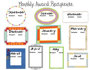 Monthly Award Tracker