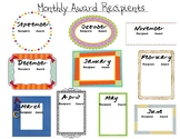Monthly Award Tracker