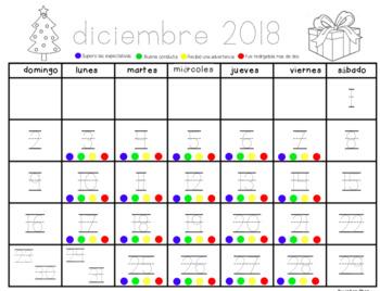 Monthly Behavior Calendar 2017-2018 Spanish