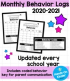 Monthly Behavior Calendar 2019-2020 (Free Updates)
