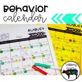 Monthly Behavior Calendar   EDITABLE