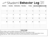 Monthly Editable Behavior Calendar (Growing Bundle)