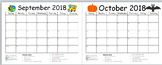 Monthly Behavior Calendar Red, Yellow, Green