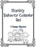 Monthly Behavior Calendar Set