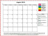 Monthly Behavior Calendar with color scale