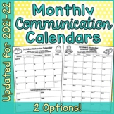 Monthly Behavior Calendars 2017-2018
