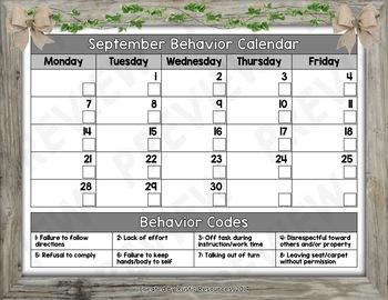 Monthly Behavior Calendars: 2020-2021 School Year