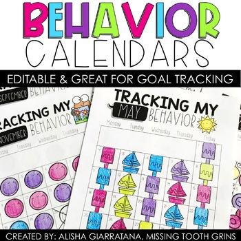 Behavior Calendars 2016-2017