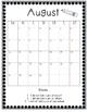 Monthly Behavior Calendars Freebie!
