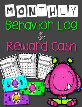 Monthly Behavior Calendars: Monster Theme (Class Dojo)