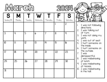 Monthly Behavior Calendars NOW EDITABLE! {Updated Yearly!}