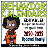 Monthly Behavior Calendars EDITABLE! {Updated Yearly!}