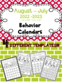 EDITABLE!!! Monthly Behavior Calendars for 2017-2018