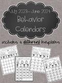 EDITABLE!!! Monthly Behavior Calendars for 2019-2020