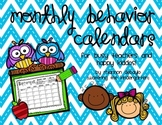 Monthly Behavior Calendars with Key-Code