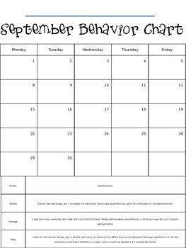 Monthly Behavior Chart 2014-2015