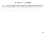 Monthly Behavior Chart