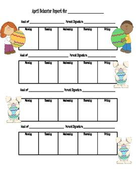 Monthly Behavior Chart/ Calendars