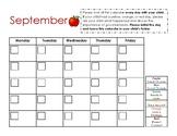 Monthly Behavior Chart - Editable