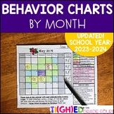 Monthly Behavior Chart School-to-Home Calendars & Behavior