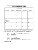 Editable Monthly - Daily Behavior Log Updated for 2018-2019