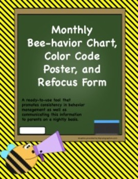 Monthly Behavior Chart with Poster and Refocus Form