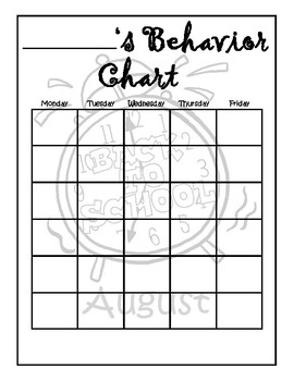 Monthly Behavior Charts By Fros Favorites